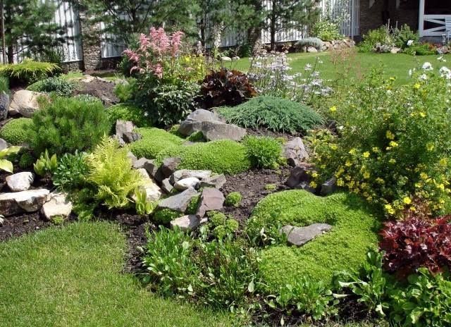 Garten gestaltung beispiel bruchsteine stauden bodendecker garten pinterest garten - Steingarten am hang ...