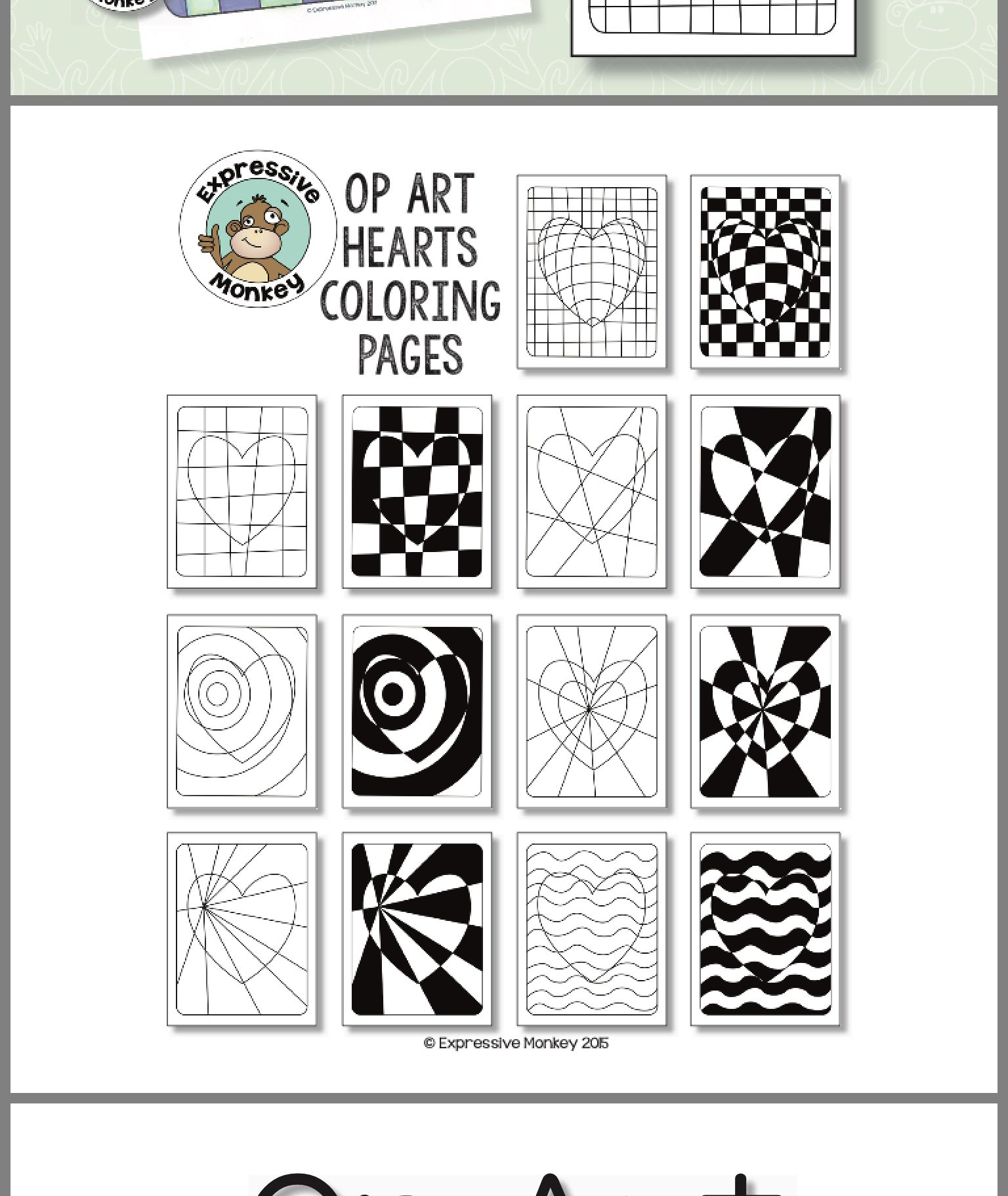 Op Art Lessons Image By Linda Kling On Valentine S Day