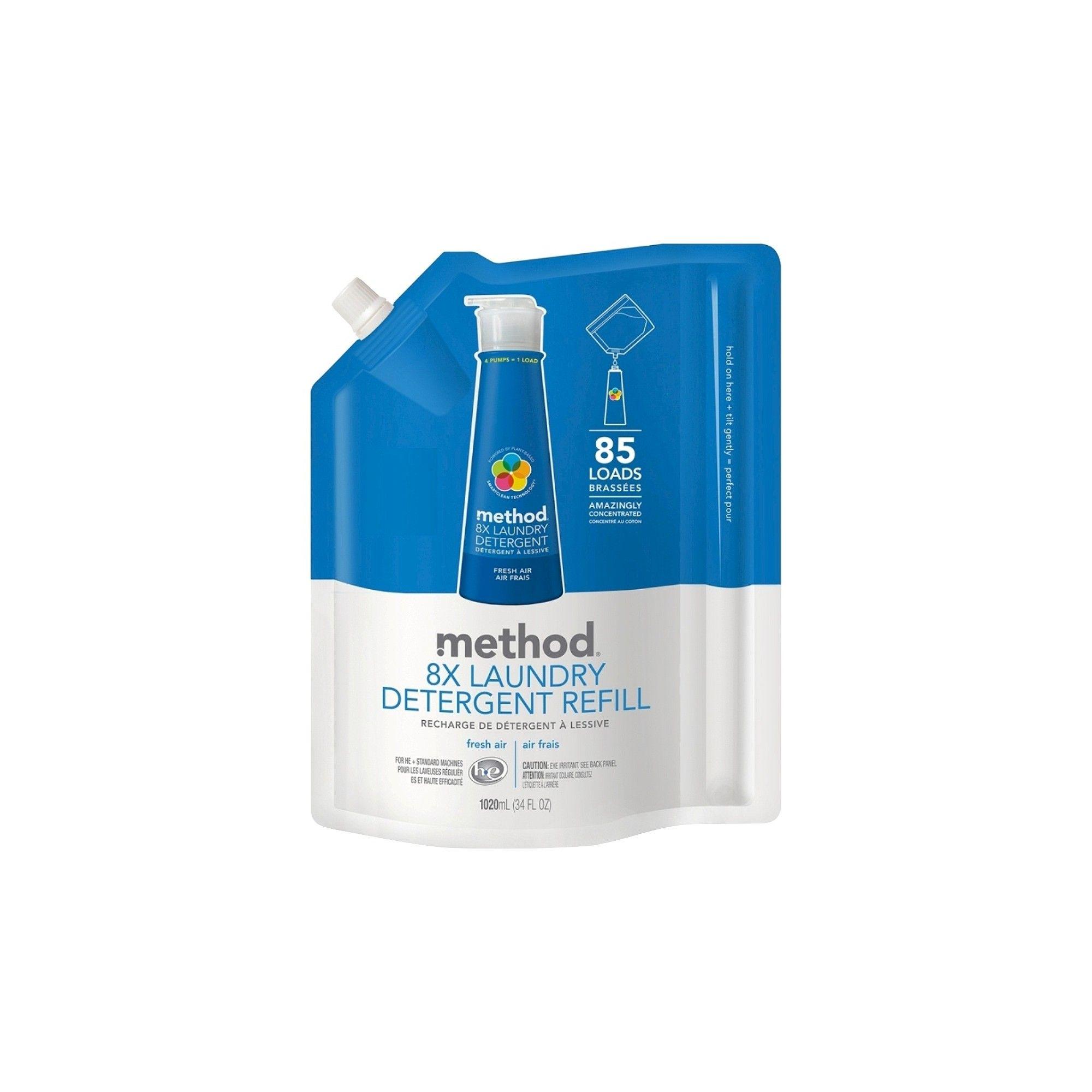 Method Fresh Air High Efficiency Laundry Detergent Refill 34 Oz