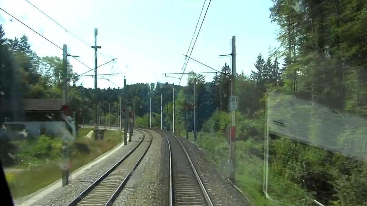 Führerstandsmitfahrt Railjet Linz - Salzburg [HD] - Cab Ride ÖBB 1116