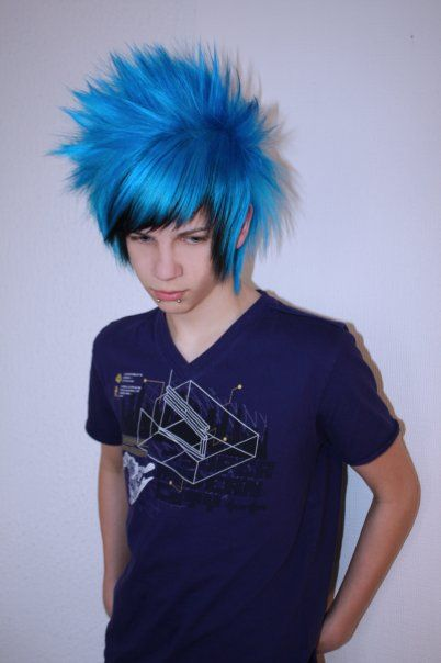 Emo Boy Blue Hair Emo Hair Boys Blue Hair Boys Long Hairstyles