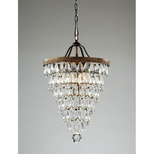 fabulous kitchen lighting chandelier glass. Cone Shape Antique Copper Crystal Chandelier - Found This On OVERSTOCK For Over Kitchen Bar Fabulous Lighting Glass K