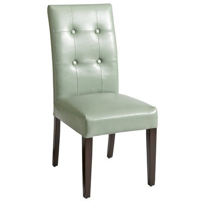 Mason Dining Chair  Is Actually A Very Light Aqua Bonded Leather Awesome Beige Leather Dining Room Chairs Review
