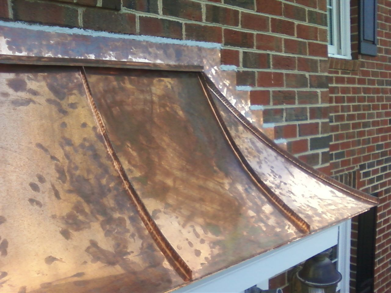 Copper Roof Over Front Door In Raleigh Copper Roofs