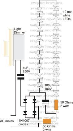 LED Driver Power Supply Circuit Using Dimmer Switch