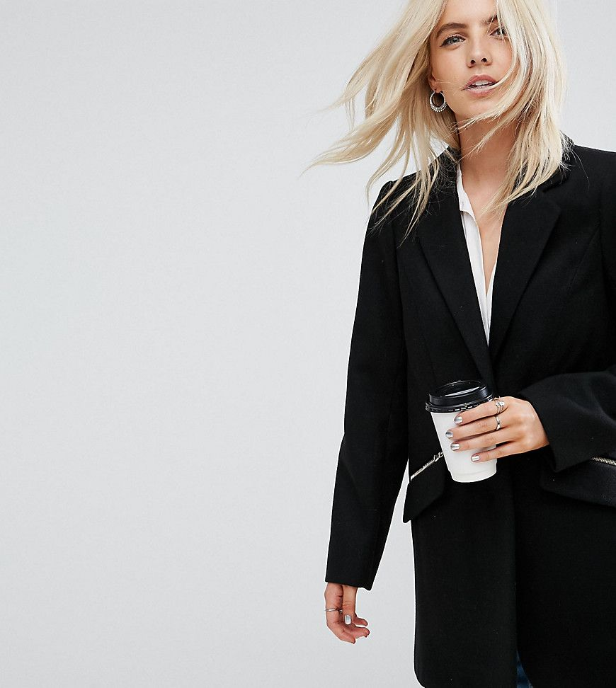 Mantel schwarz petite