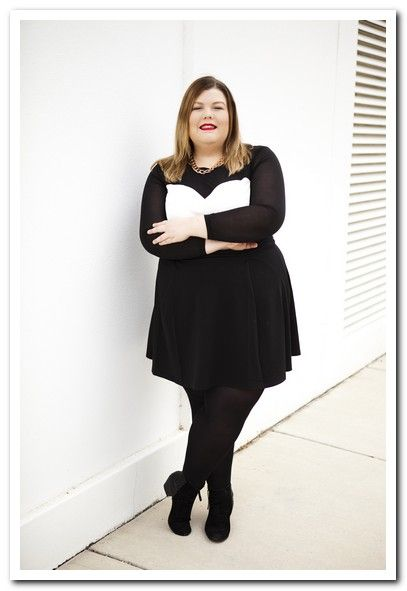 Plus Size Black Dress With Black Tights Plus Sizes Extra Fab