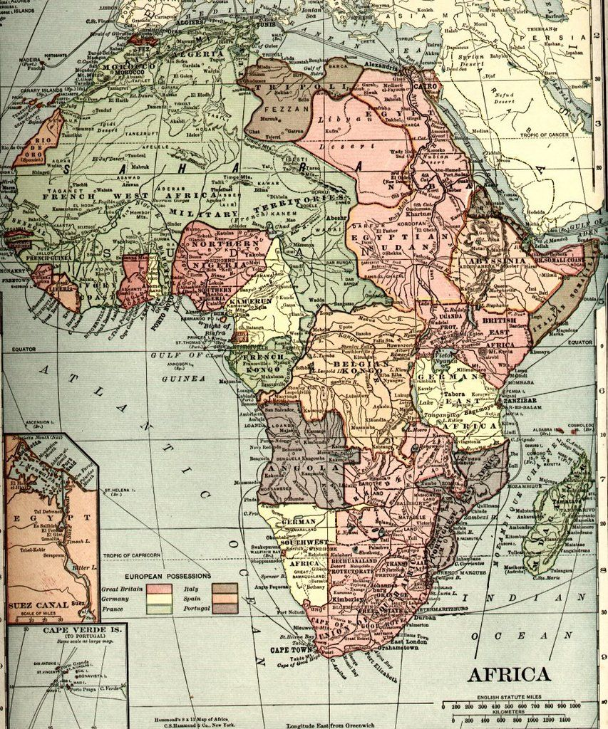 africa1910s.Map of Africa in the early 20th Century (Image: New