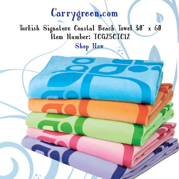 Turkish Signature Coastal Beach Towel 30 X 60 Item Number