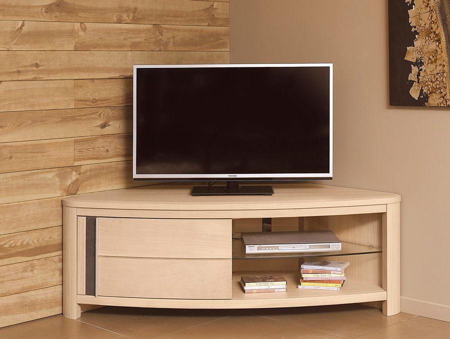 idee meuble tv angle meuble tv dangle 2 portesloc graume les meubles du - Idee Meuble Tv Dangle