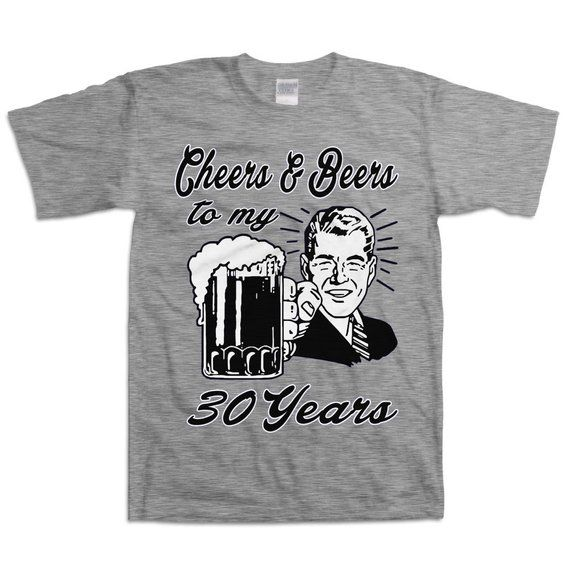 Retro Man 30th Birthday Shirt Gift For Thirty 30 Year Old Cheers And Beers To My Years T B