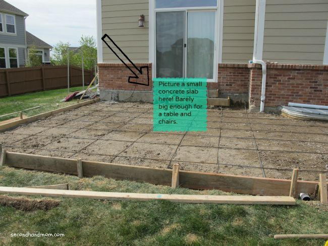 Back Yard–Patio Part one…the beginning | Budget patio, Patios and ...