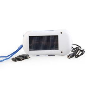 einen solarbetriebenen selbst aufladen weißes Licht 6-LED-Taschenlampe mit UKW-Radio und Handy-Ladegerät