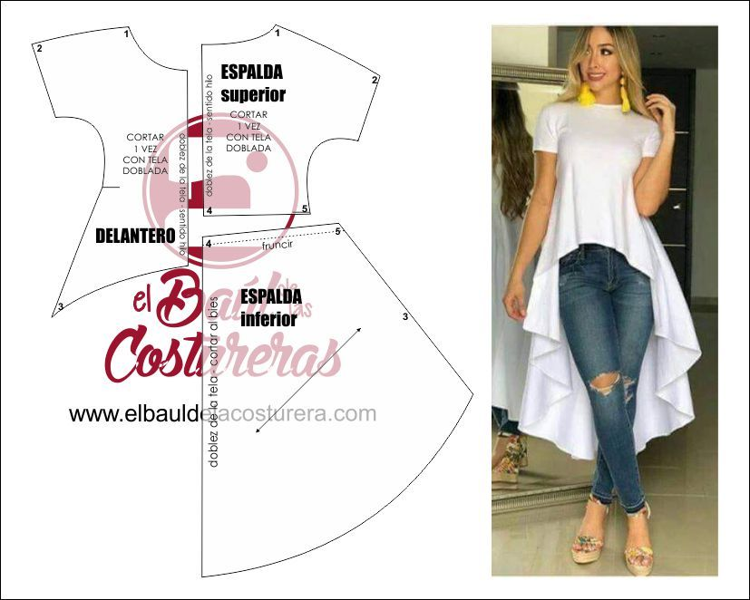 Blusa cola de pato patrón de costura | Dress | Pinterest