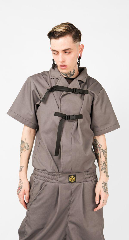 Mono original Kabukimono GRY Hombre  - #mono #kabuki #kabukimono #modahombre #fashion #ethicalfashion #modabarcelona #arte #arteporvo #fashiondesign #modachico #monoparahombre - https://arteporvo.com/ropa-accesorios/kabukimono-gry-hombre/