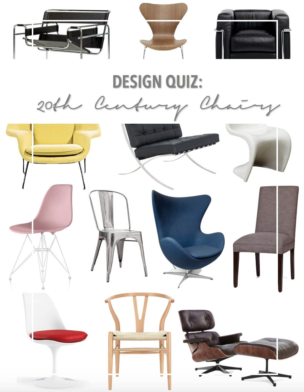 Design Quiz Famous 20th Century Chairs Midcentury Modern