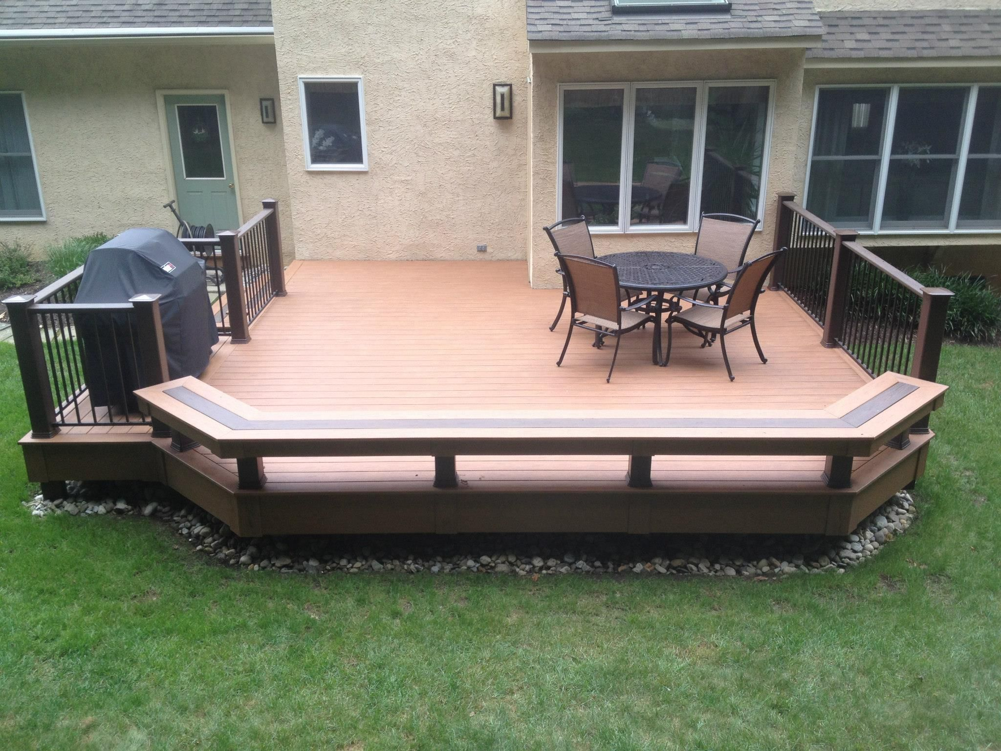 Image result for low deck ideas with low rail remodel for Small floating deck