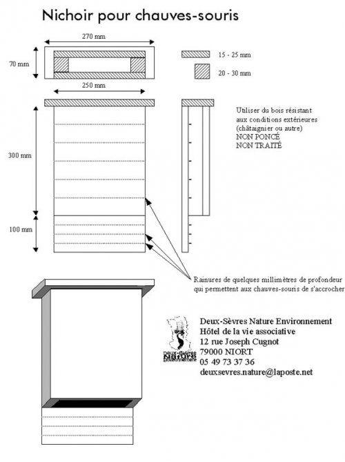 Construire un nichoir pour chauve souris nichoirs pinterest nichoirs c - Construire un pigeonnier plan ...
