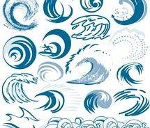 Tidal Wave Curl Illustration Logo Tattoo Ideas Asamblaj Resim Renkler