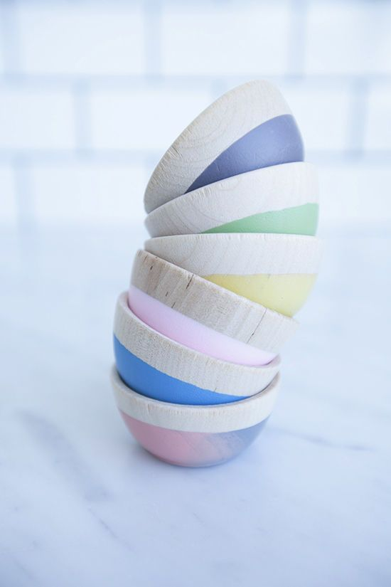 mini wooden bowls | designlovefest