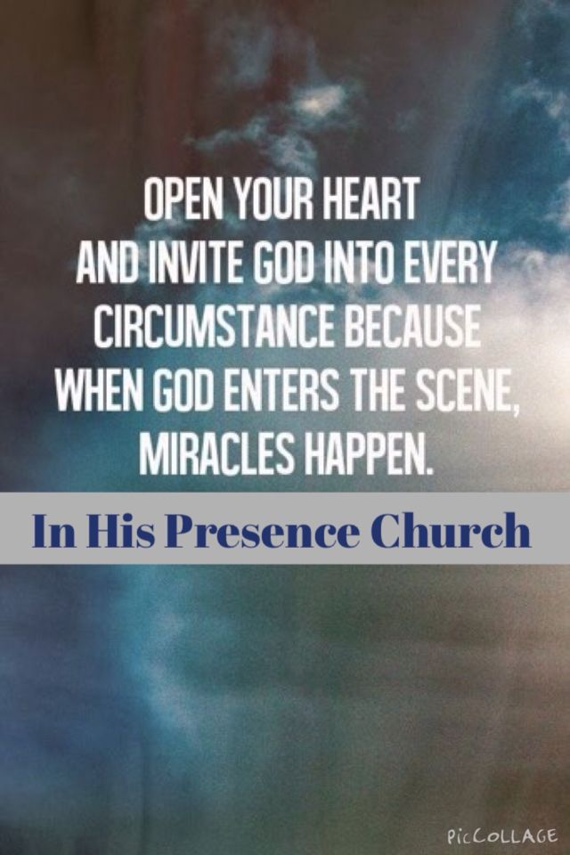 Miracles are happening!!! Open up your life to Jesus!! IHPChurch www.ihpchurch.org