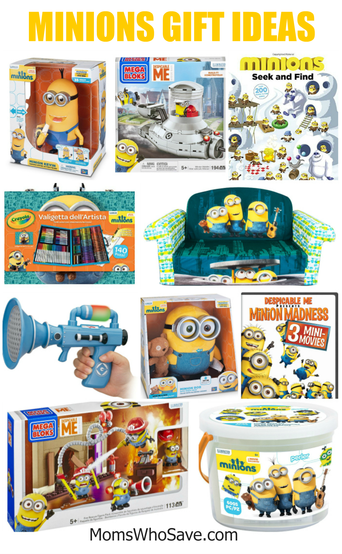 45 Minions Gift Ideas For Despicable Me Fans Momswhosave Com Minion Gifts Minions Minion Theme