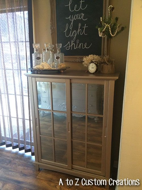 Beau Boxed Store Cabinet Meets Modern Masters Metallic Paint Makeover By A To Z  Custom Creations | Warm Silver | Furniture | Modern Masters | Pinterest ...
