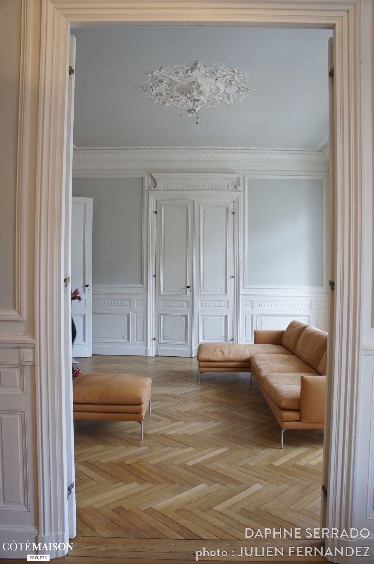 Appartement de type haussmannien, Daphné Serrado - Côté Maison ...