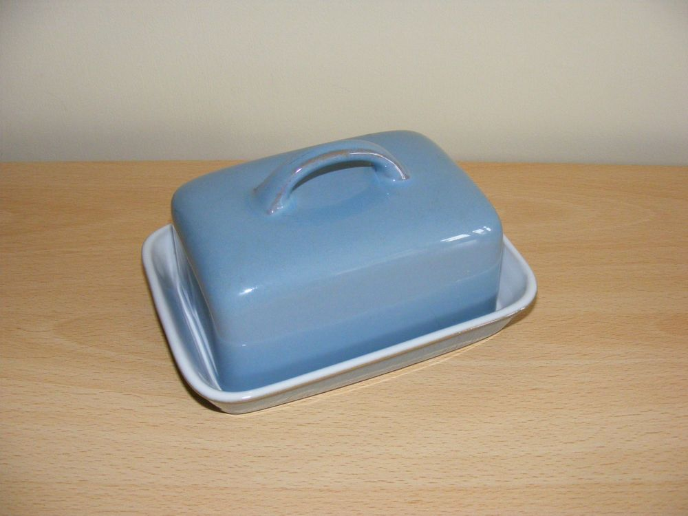 Denby Colonial Blue Butter Dish | Butter dish