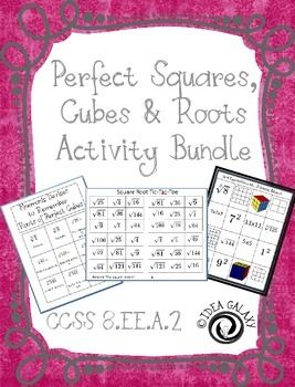 Square Roots And Cube Roots Activities  Square Roots Student