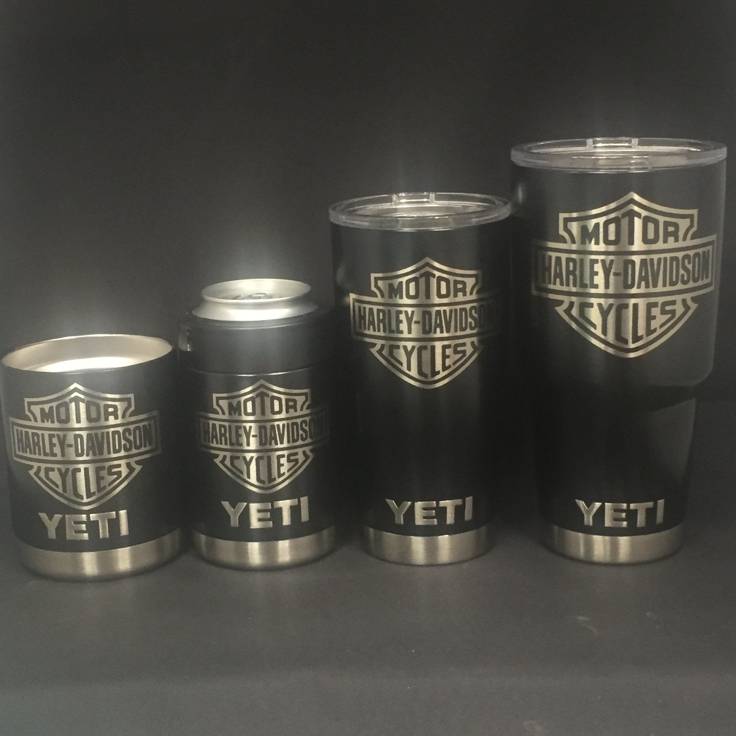 Harley Davidson Yeti Cup Rambler Tumbler Lowball Or Colster Leather Protectant