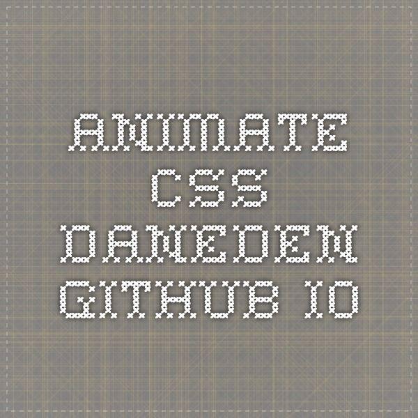 Animate.css daneden.github.io