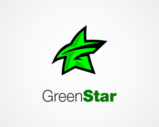 Green Star Logo Design Combine Letter G And Star Star Logo Design Logo Design Design