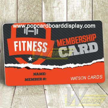 sleek lace up in innovative design Custom Plastic Membership Cards for gym or club | Member ...