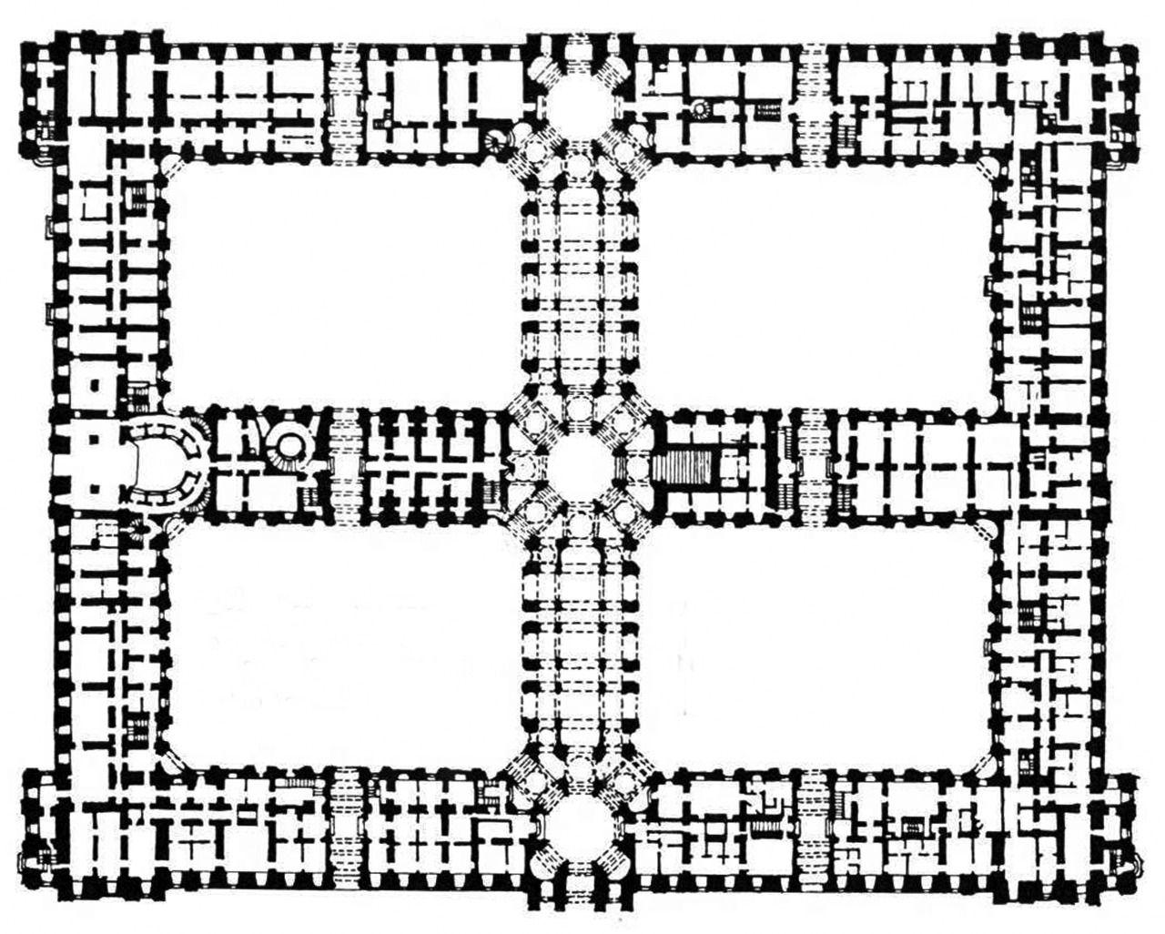Luigi Vanvitelli Royal Palace Plan Caserta Italy 1752