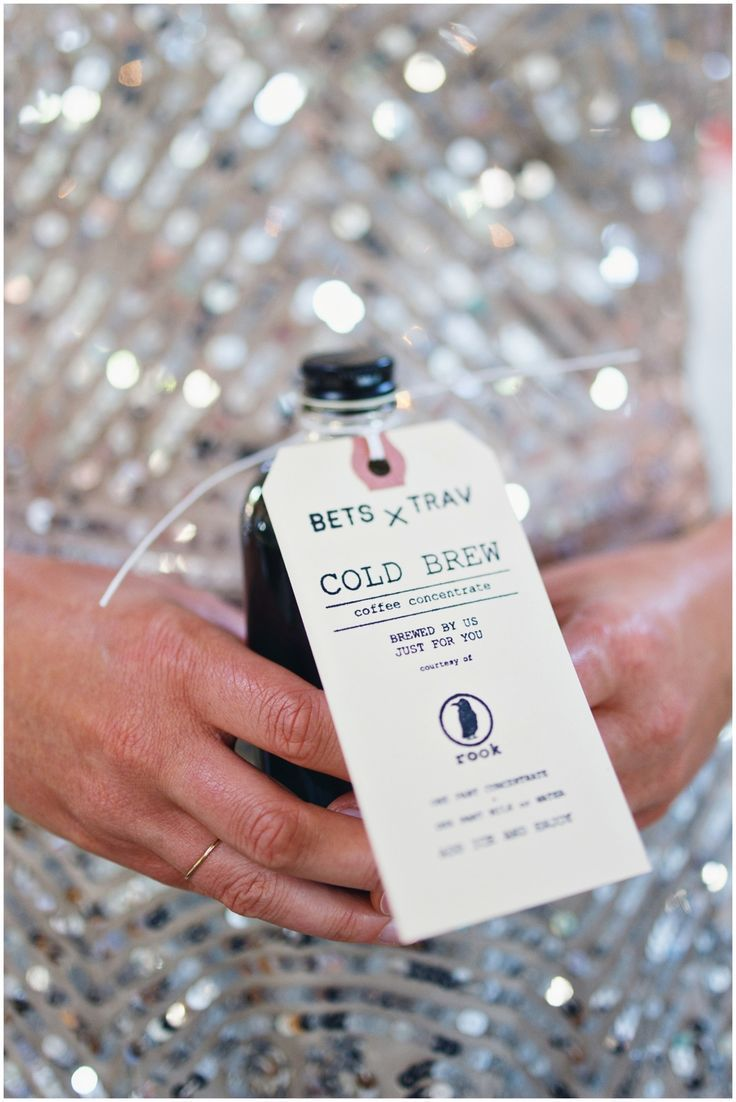Cold Brew Coffee Favor | Coffee wedding favors, Favors and Weddings