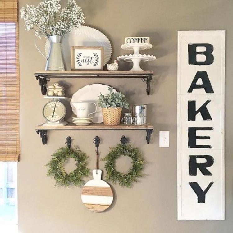 unusual diy kitchen open shelving ideas kitchen shelf decor farmhouse kitchen decor on kitchen decor open shelves id=72844