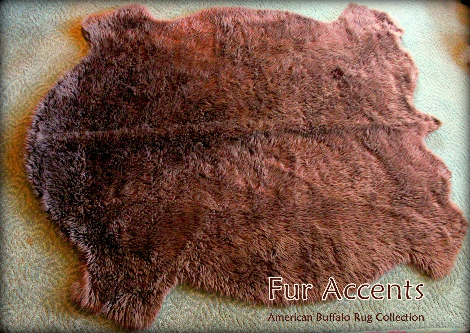 From The Buffalo Collection This Brown Buffalo Hide Pelt Rug Is Stunning And Its Faux Be Kind To Animals Always Buy Faux T Pelt Rugs Faux Fur Rug Animal Free