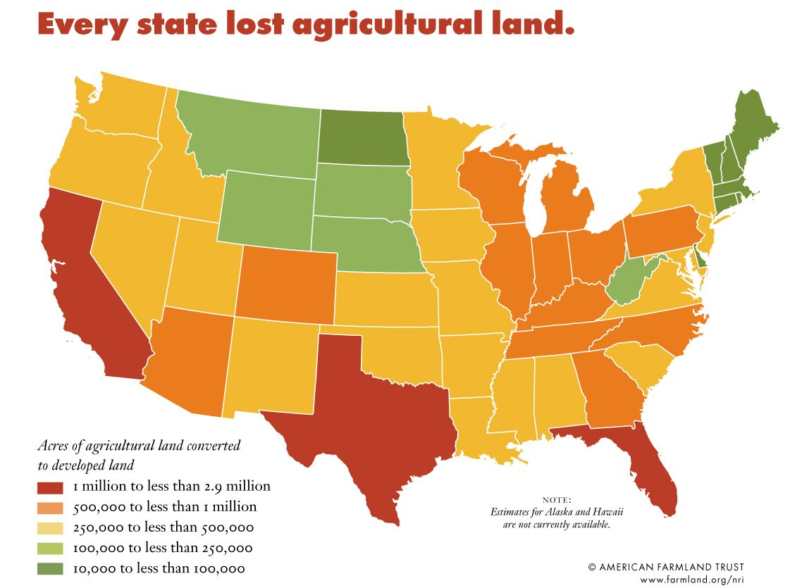 Losses Of Farm Land How To Find A Clean Homesteading Site - Agricultural Land Us Map
