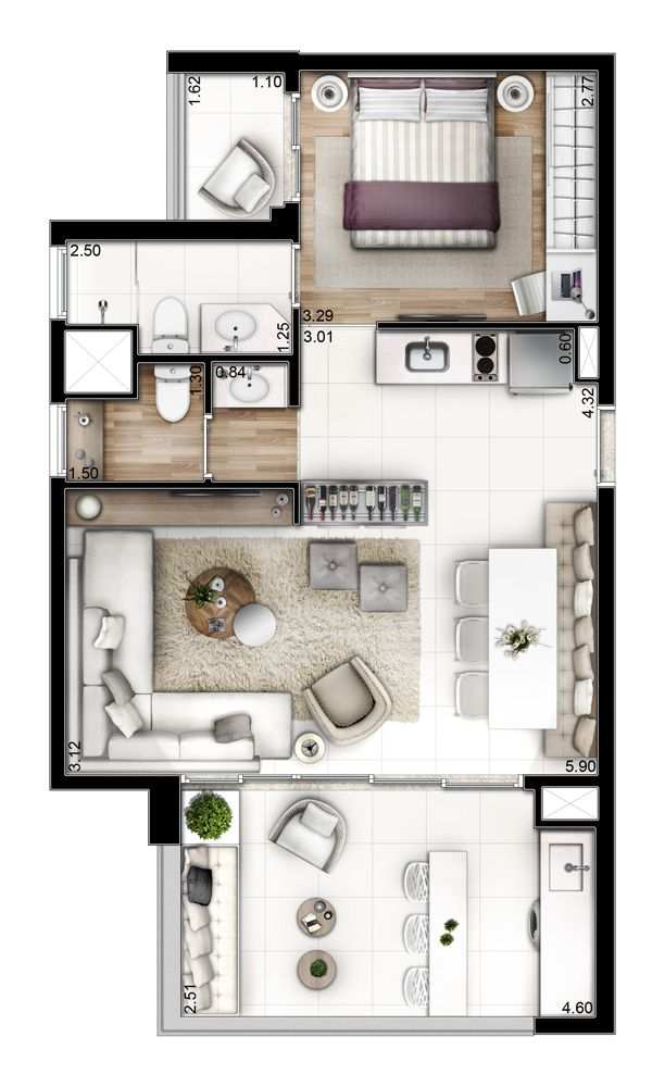 Neorama - Floor Plan - Setin/Mondial São Bernardo deco Pinterest - dessiner plan de maison