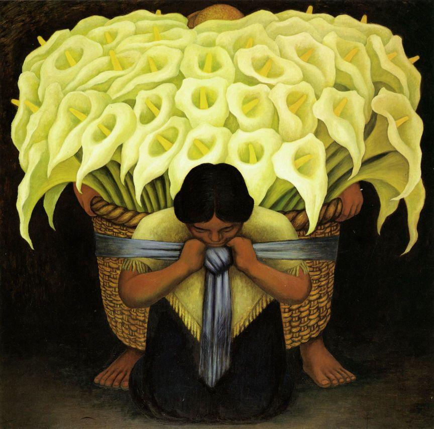 El Vendedor del Alcatraces - Diego Rivera