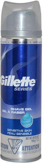 men gillette gillette series sensitive skin shave gel 7 oz