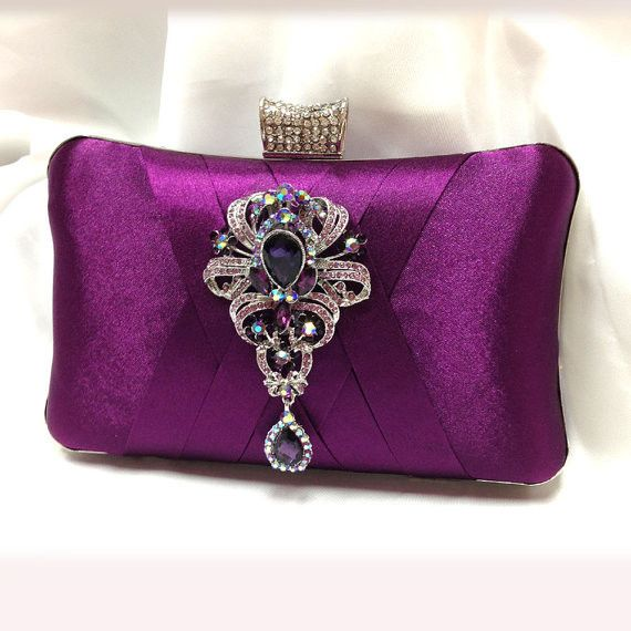 513cd8961db purple evening bag | Evening bags, clutches, etc. | Bags, Bridesmaid ...