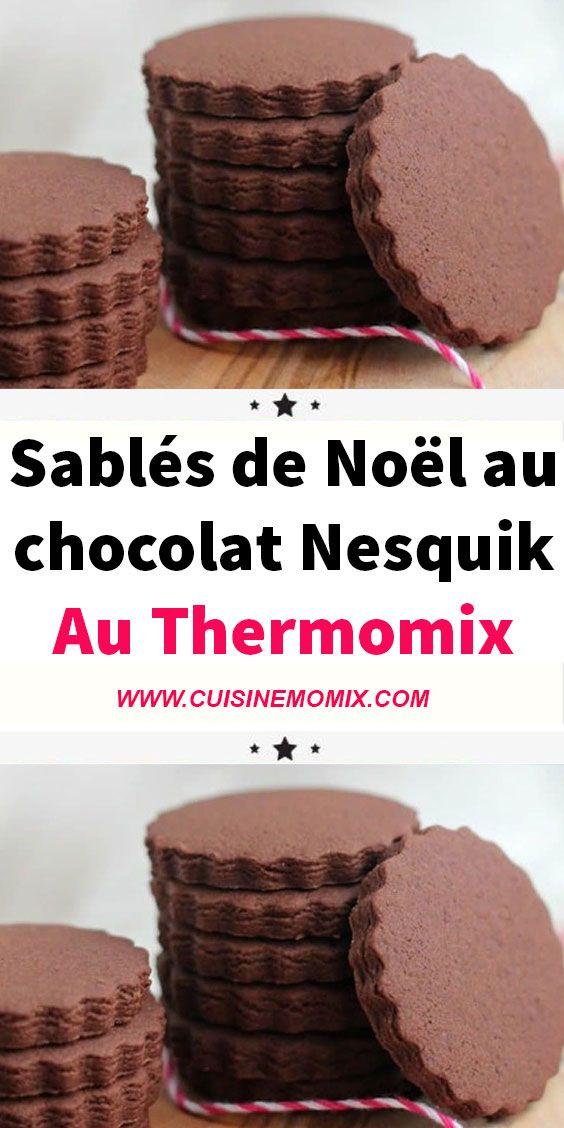 Sablés de Noël au chocolat Nesquik au thermomix  #sabledenoel