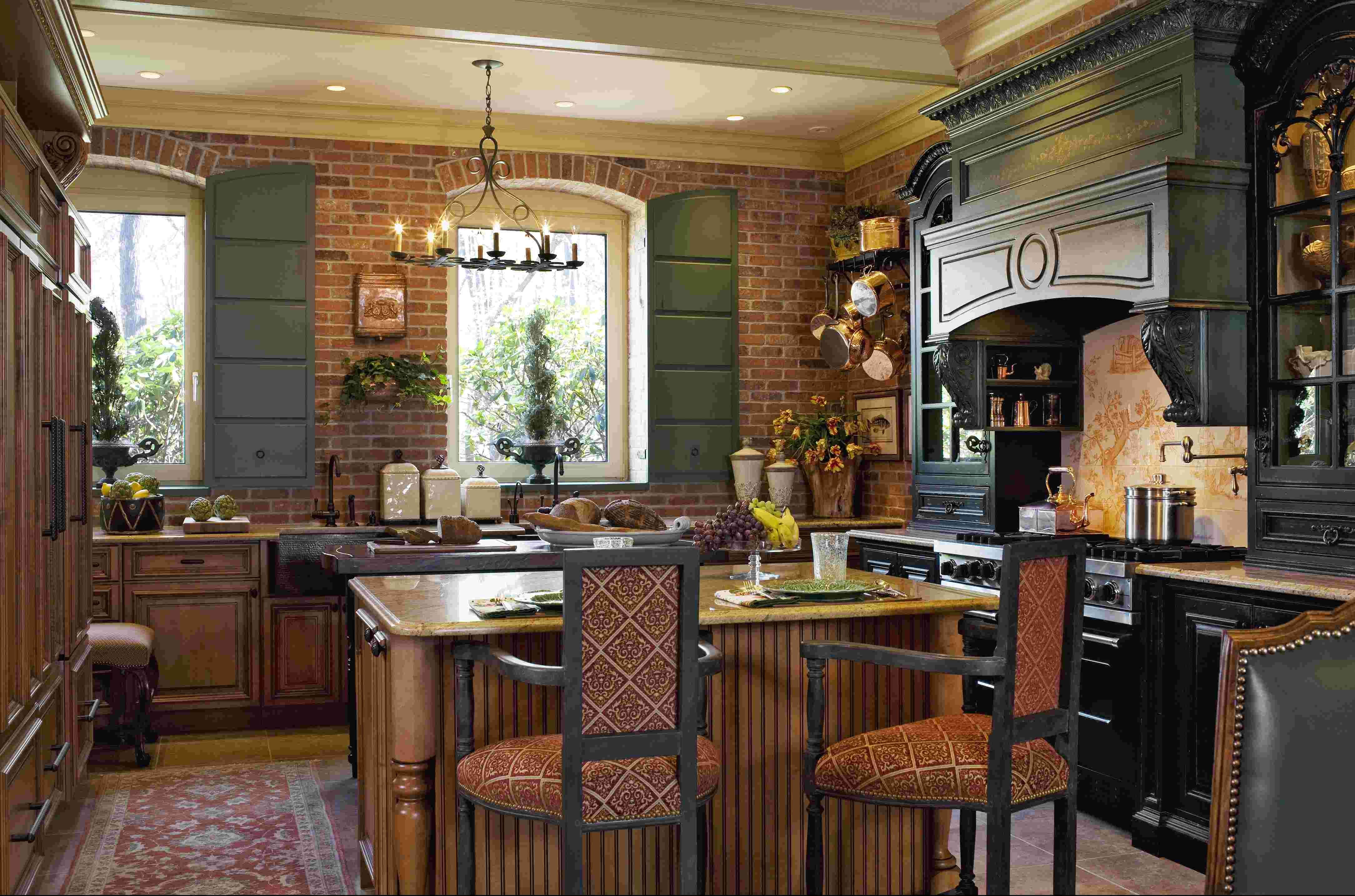 15+ Design Ideas for Kitchens Without Upper Cabinets. Country Kitchen  DesignsFrench Country ...