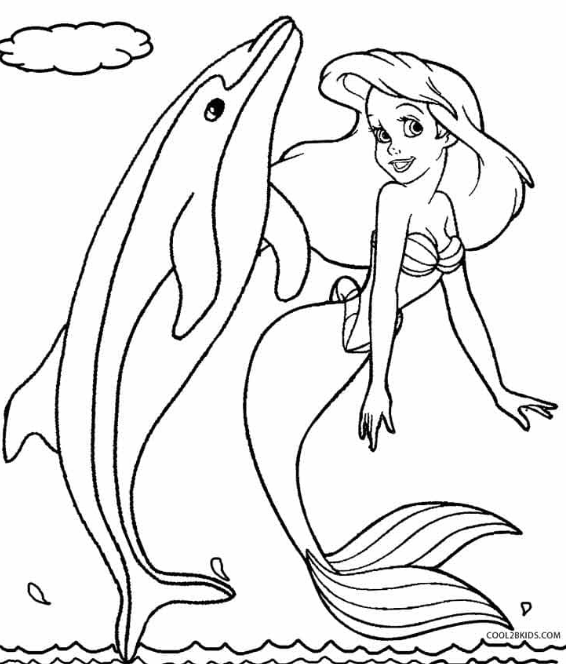 50 Ausmalbilder Delphin Meerjungfrau Barbie Malvorlagen Malvorlagen Malvorlage Prinzessin