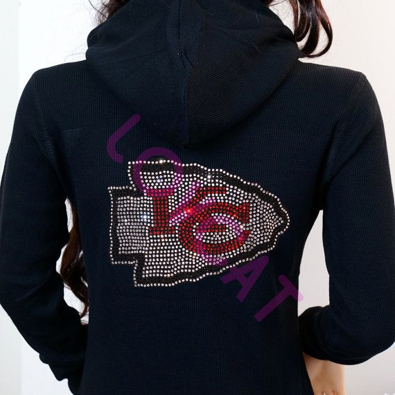 9bf94af9 Kansas City Chiefs Jersey Bling Rhinestone Zip Up by LOVCAT84 ...