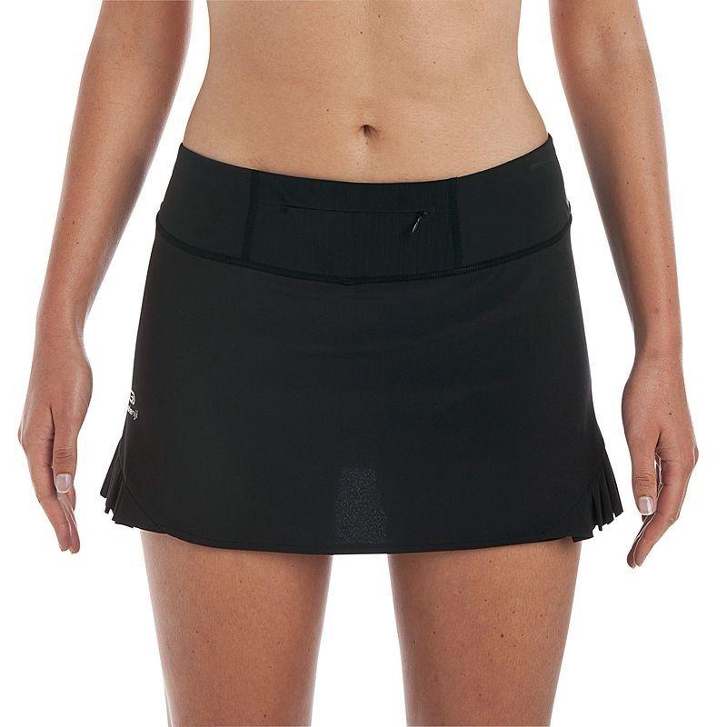 Jupe short trail running femme noir KALENJI