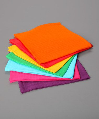 Faye and Lou Rainbow Muslins Pack of 7