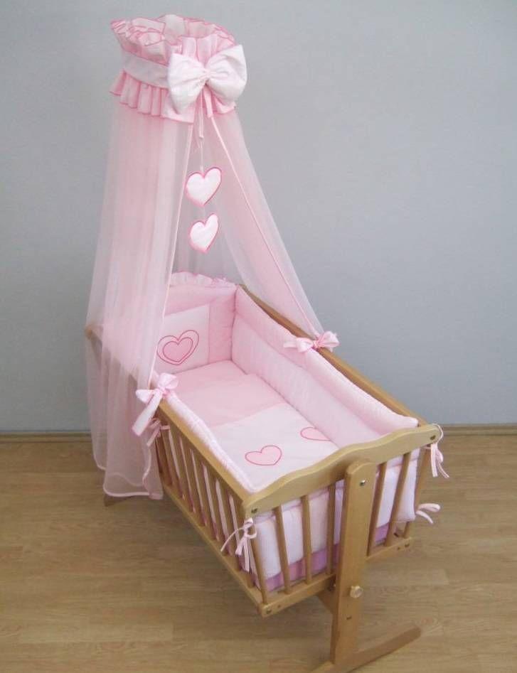 10 Piece Crib Baby Bedding Set 90x40 cm Fits Swinging Rocking Cradle ...